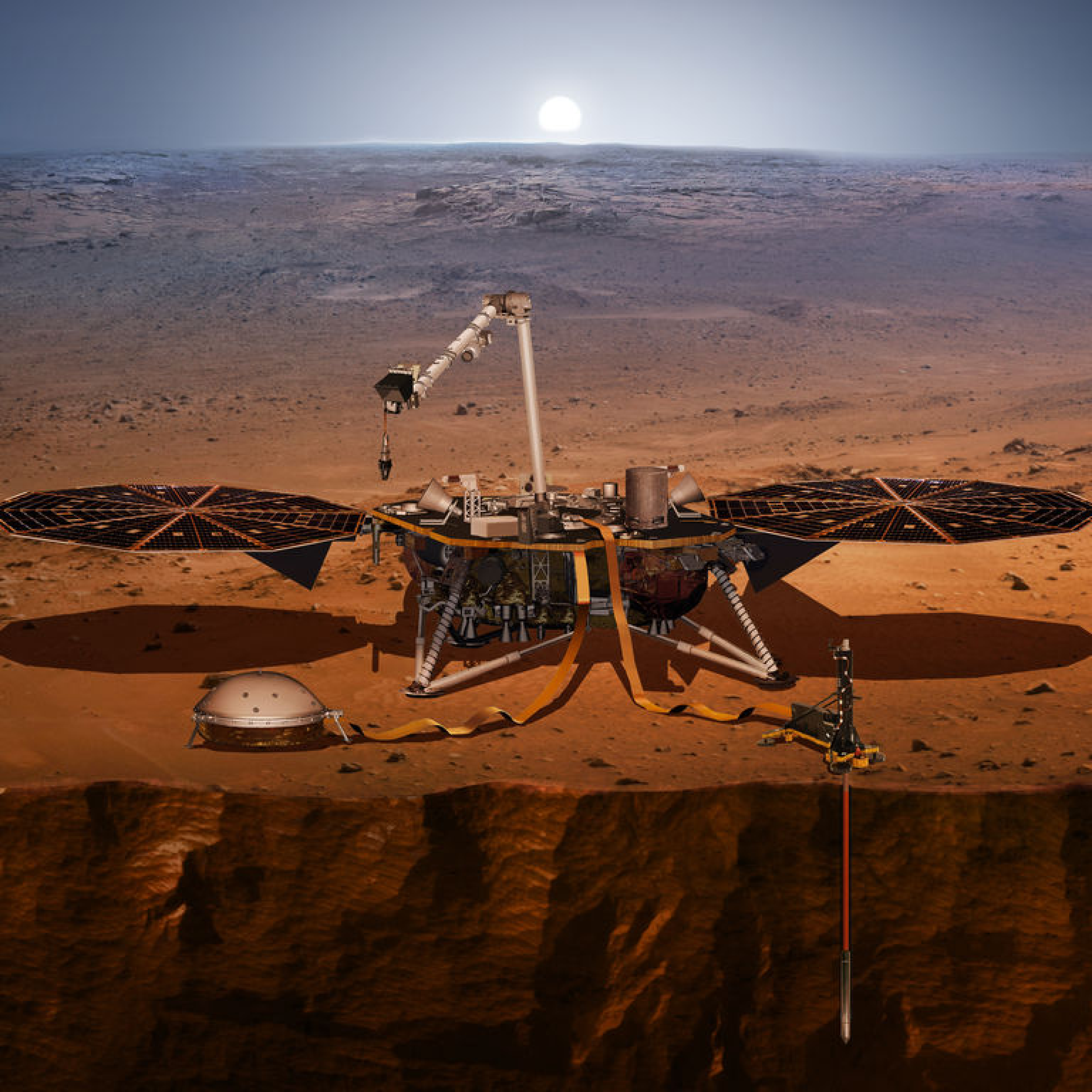 Castrol à bord d'InSight, la mission historique d'exploration de Mars de la NASA