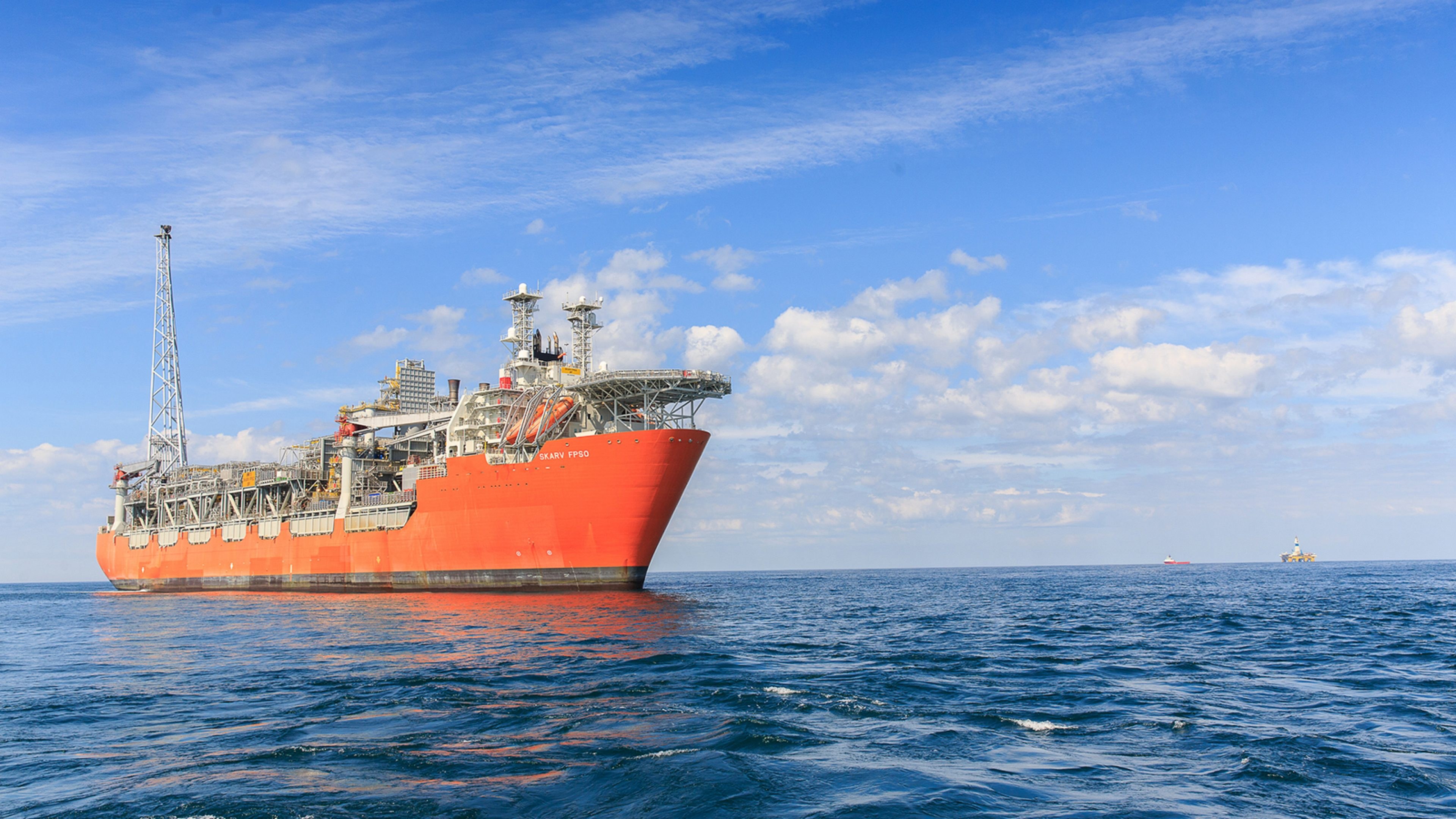 Floating production, storage and offloading vessel at sea