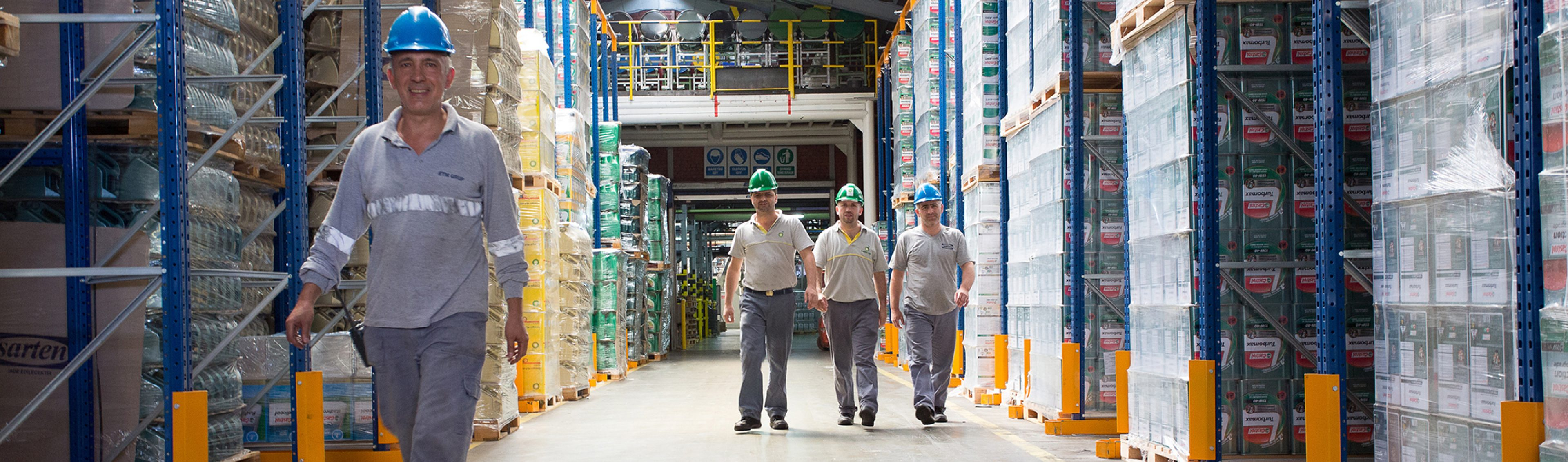 Packaging warehouse workers