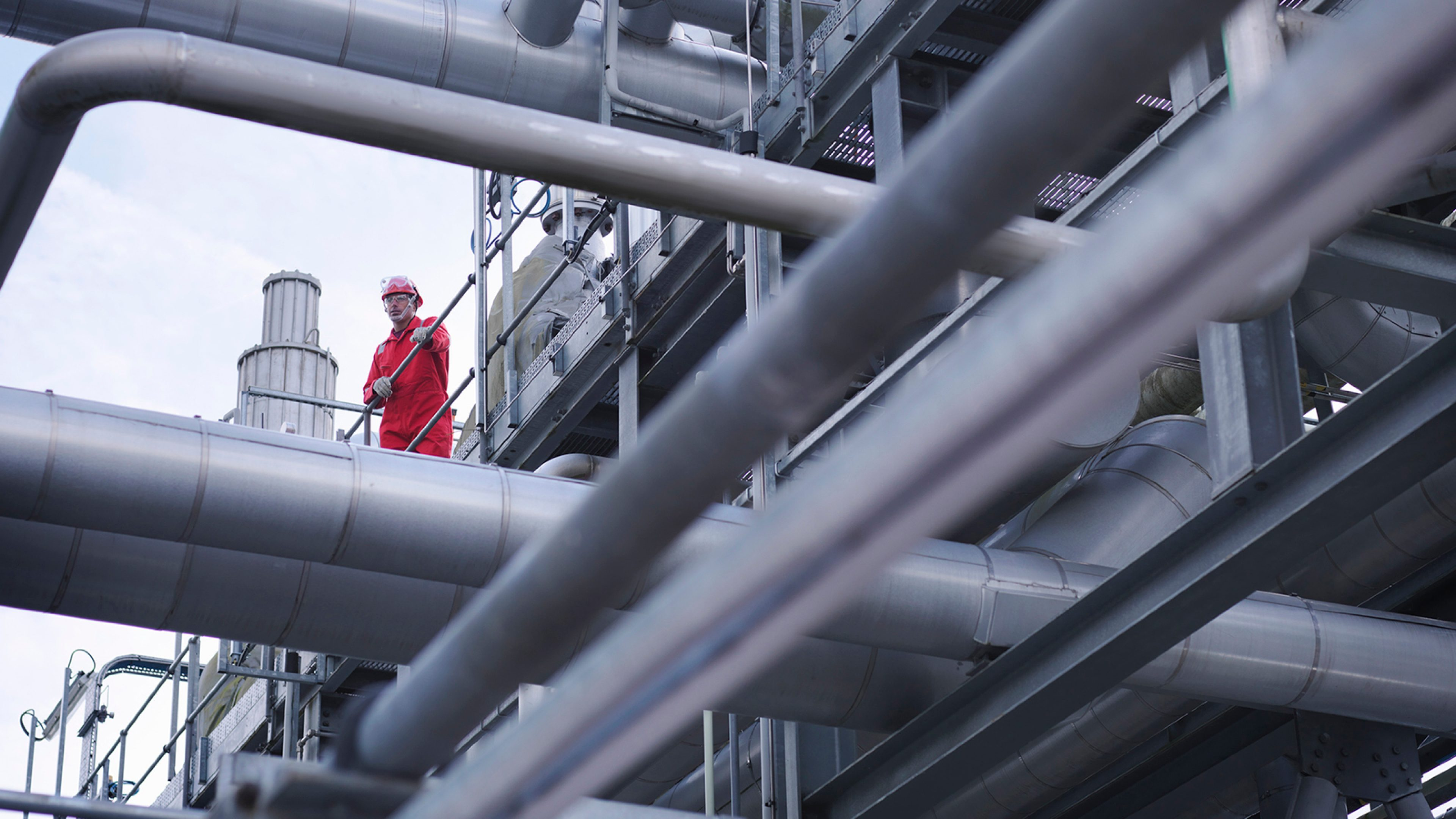 Worker on underground gas storage plant --- Image by © Monty Rakusen/cultura/Corbis