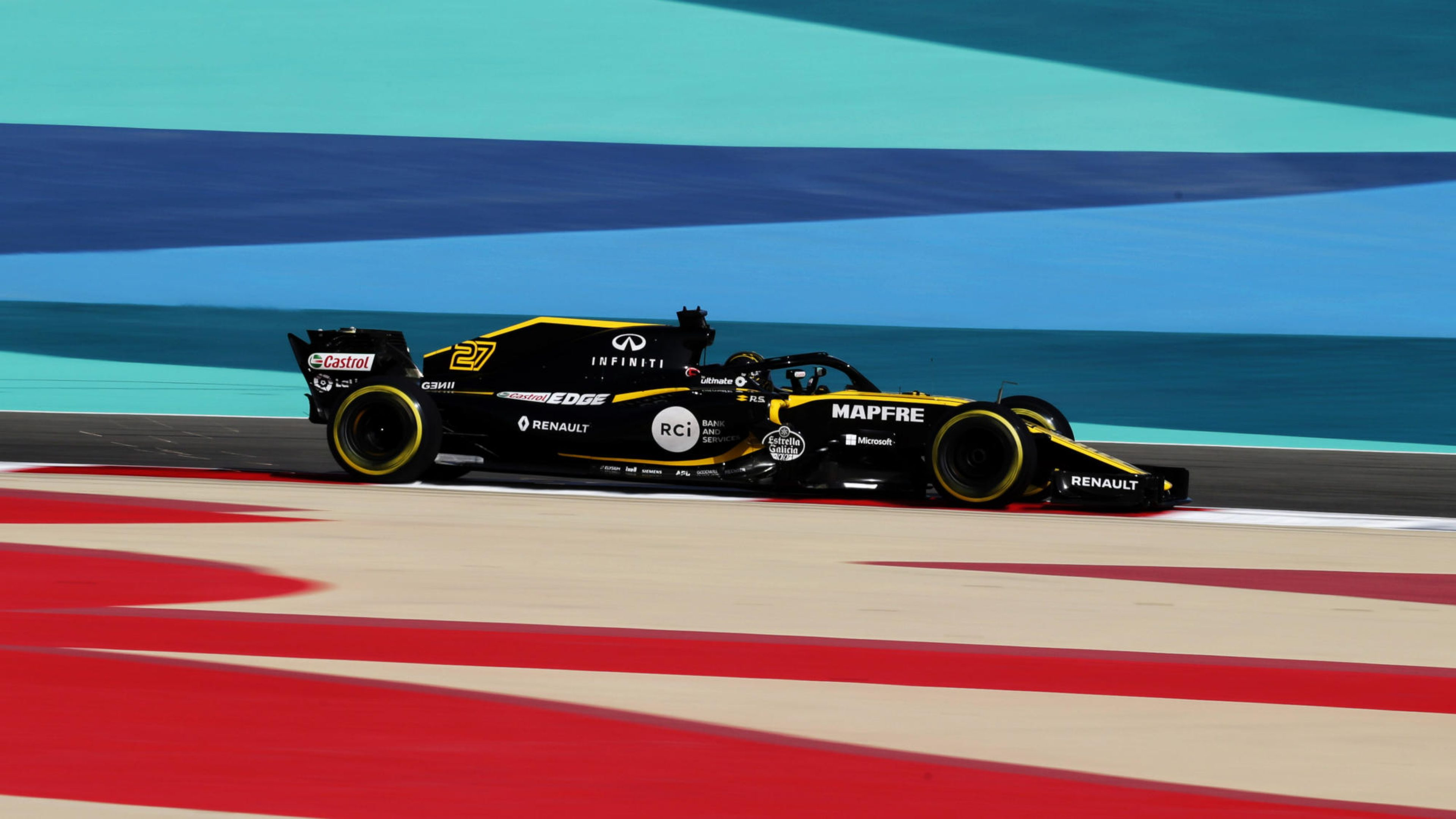 Nico Hulkenberg (GER) Renault Sport F1 Team RS18. Bahrain Grand Prix, Saturday 7th April 2018. Sakhir, Bahrain.