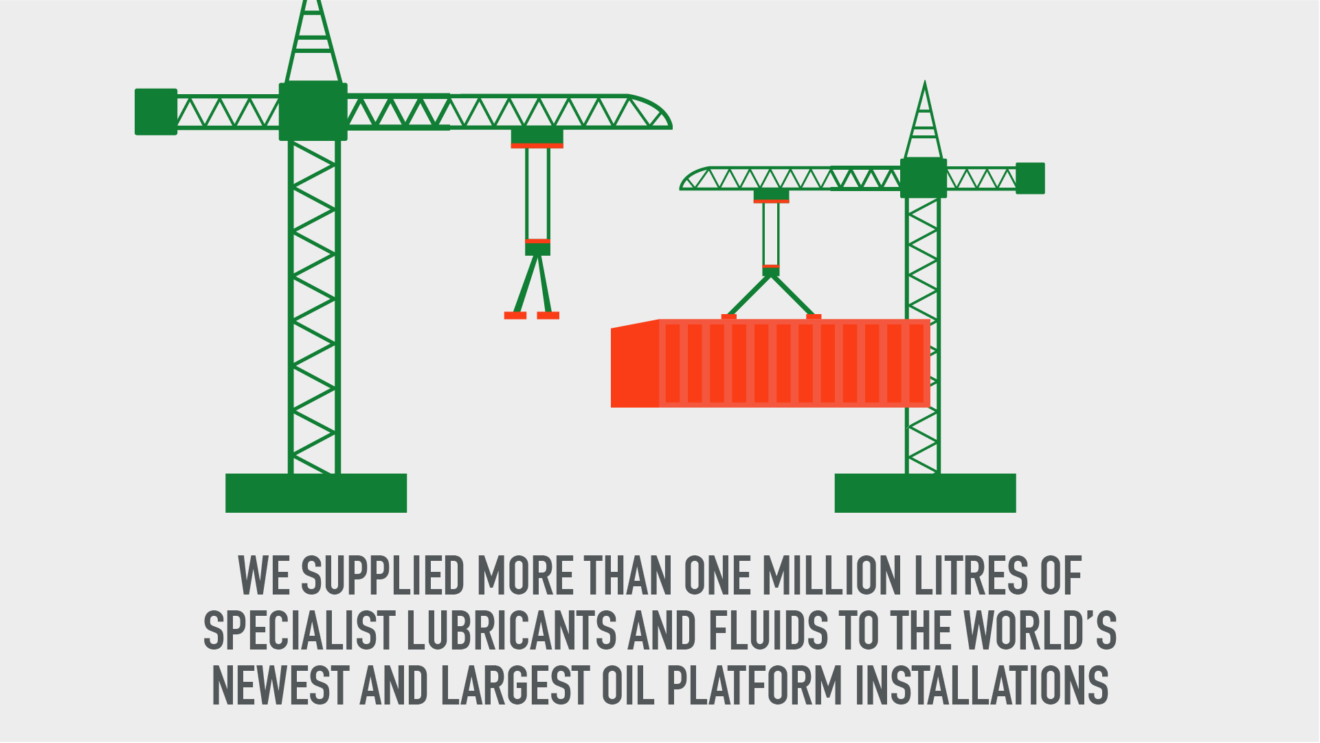 We supplied more than one million litres of specialist lubricants and fluids to the world's newest and largest oil platform installations.jpg